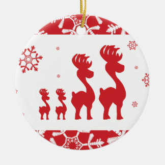 Christmas Reindeer Family Christmas Ornament