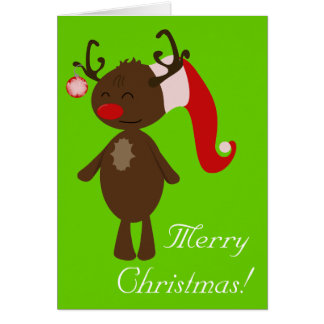 Christmas Reindeer Greeting Card