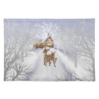 Christmas Reindeer Holiday Cartoon Place mat