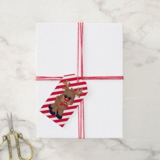 Christmas Reindeer Holiday gift tag