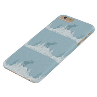 Christmas reindeer in the mountains  iPhone case
