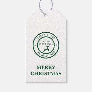 Christmas Reindeer Mail Gift Tags