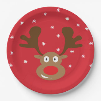 Christmas Reindeer Party Supply Plate