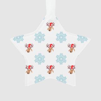 Christmas Reindeer Pattern Ornament