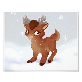 Christmas reindeer art photo