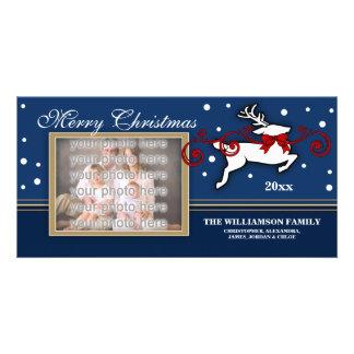 Christmas Reindeer Photocard Card