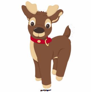 Christmas Reindeer Photo Sculpture Badge