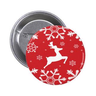 Christmas Reindeer Pinback Buttons