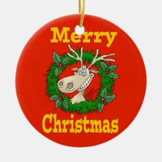 Christmas Reindeer reef. Christmas Ornament