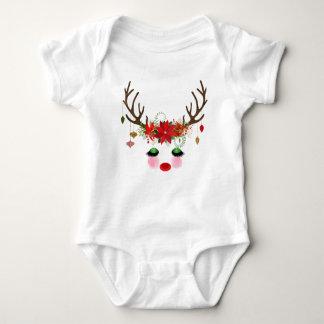 Christmas Reindeer Romper Baby Bodysuit