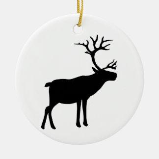 Christmas Reindeer Round Ceramic Decoration