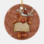 Christmas reindeer - Rudolph Ornaments