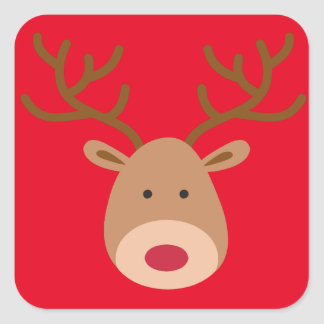 Christmas Reindeer Stickers - Sheet of 20
