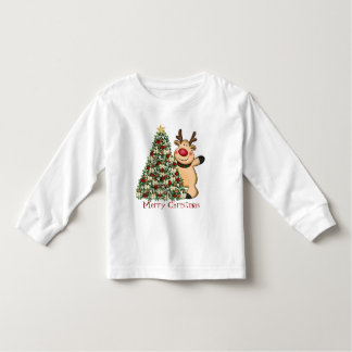 Christmas reindeer toddler t-shirt