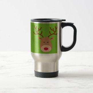 Christmas Reindeer Travel Coffee Mug