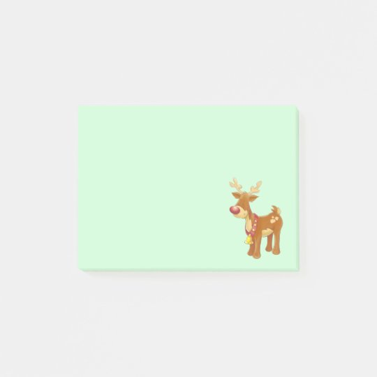Christmas Reindeer with a Red Nose Post-it® Notes