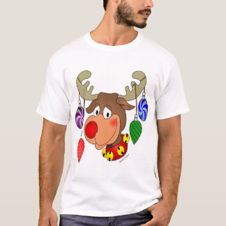 Christmas Reindeer with ornaments T-Shirt
