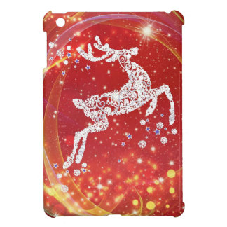 Christmas Reindeer with Sparkles iPad Mini Covers
