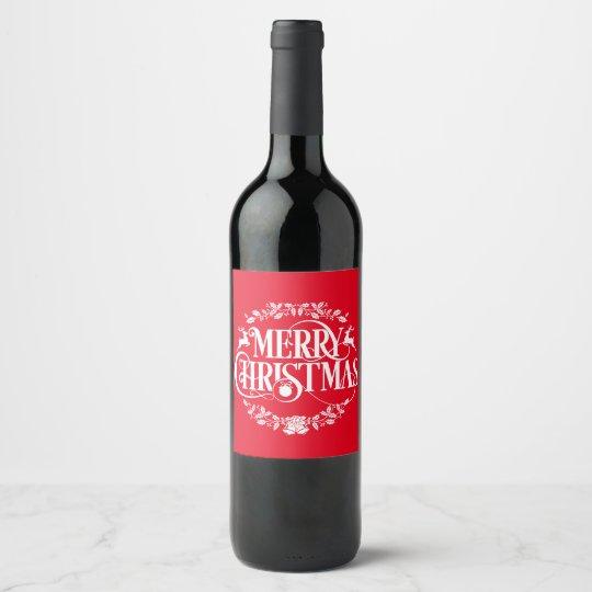 Christmas reindeer word art drink label