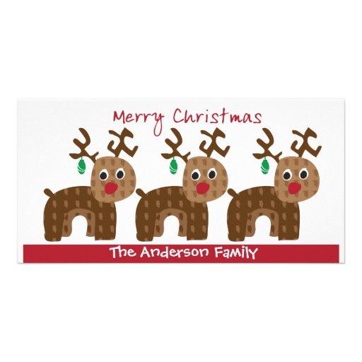 Christmas Reindeers Card Picture Card