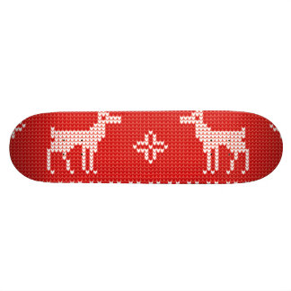 Christmas Reindeers Jumper Knit Pattern 18.1 Cm Old School Skateboard Deck