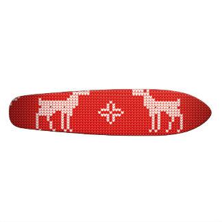 Christmas Reindeers Jumper Knit Pattern 20.6 Cm Skateboard Deck
