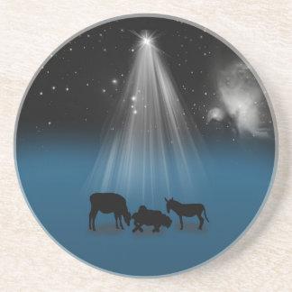 Christmas, Religious, Nativity, Stars, Coaster