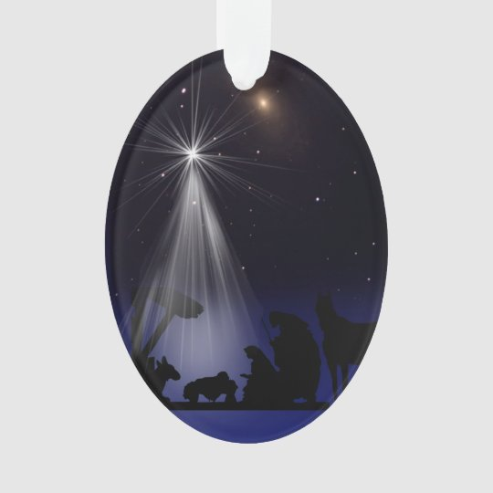 Christmas, Religious, Nativity, Stars Ornament