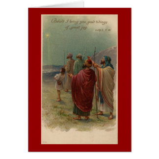 Christmas Religious Shepherds Greeting Card
