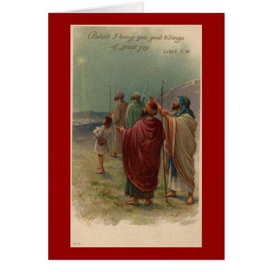 Christmas Religious Shepherds Greeting Card