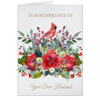 Christmas Remembrance Card | Dear Husband