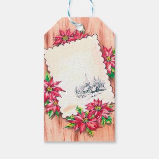 Christmas retro gift tag
