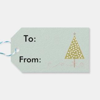christmas retro gift tags