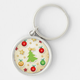 Christmas retro pattern, keychain