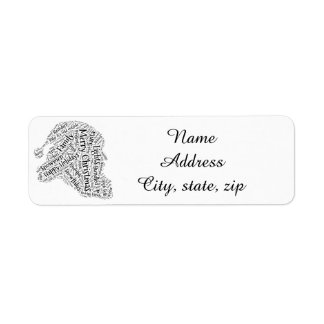 Christmas return address label santa