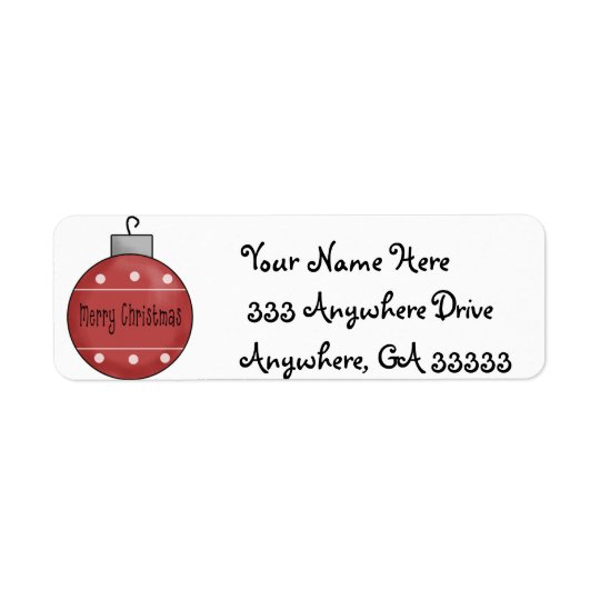 Christmas return address labels