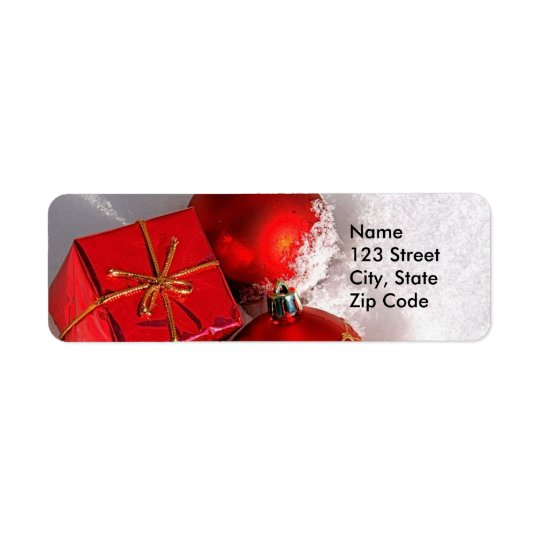 Christmas Return Address Labels or Favour Gift
