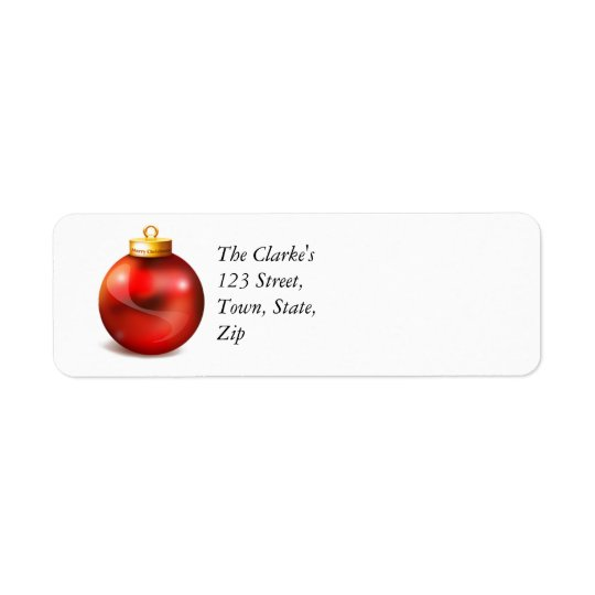Christmas Return Address Labels Ornament
