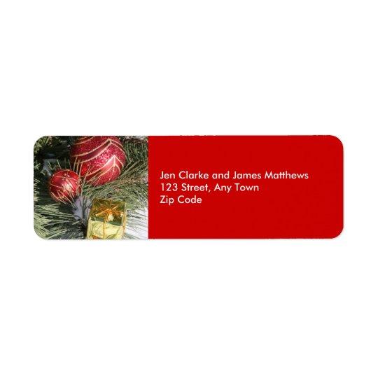 Christmas Return Address Labels Ornament Tree