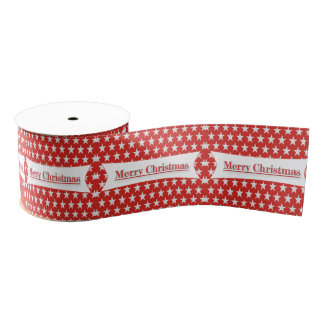 Christmas Ribbon - Pattern Ribbon Grosgrain Ribbon