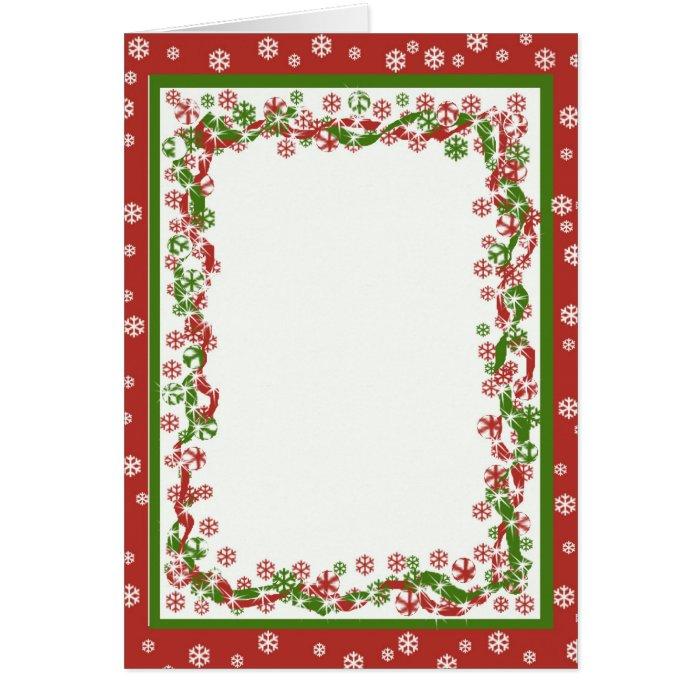 Christmas Ribbon Template Greeting Card
