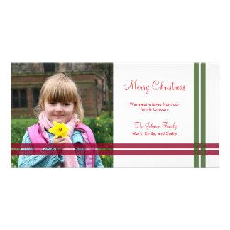 Christmas Ribbons Holiday Photo Card Photo Card Template