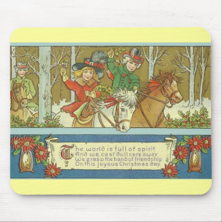 Christmas Riding Mouse Pad