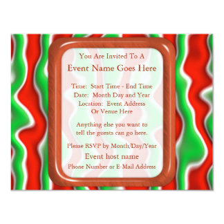 Christmas Ripples 11 Cm X 14 Cm Invitation Card
