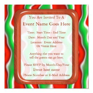 Christmas Ripples 13 Cm X 13 Cm Square Invitation Card