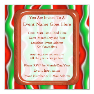Christmas Ripples 5.25x5.25 Square Paper Invitation Card