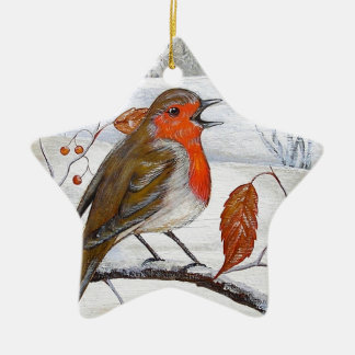 Christmas Robin Christmas Ornament
