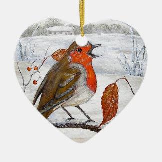 Christmas Robin Christmas Ornament