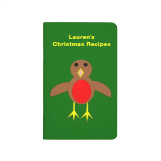 Christmas Robin Custom Recipe Journal