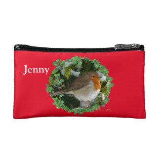 Christmas Robin Makeup Bag